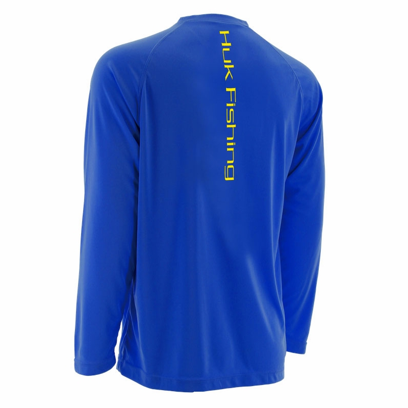 Huk performance fishing logo raglan long sleeve shirt for Huk fishing shorts