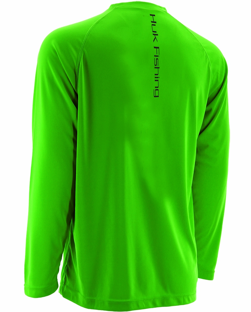 Huk performance raglan long sleeve shirts tackledirect for Huk fishing gear