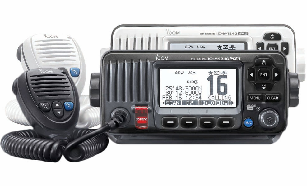 icom ic m424g fixed mount vhf transceivers w gps tackledirect. Black Bedroom Furniture Sets. Home Design Ideas