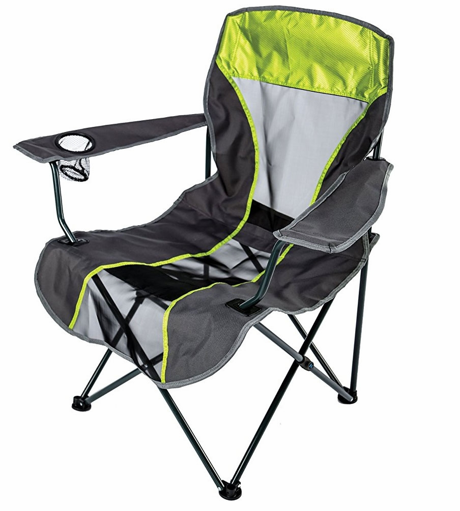 Kelsyus backpack quad chair lime green tackledirect for Fishing backpack chair