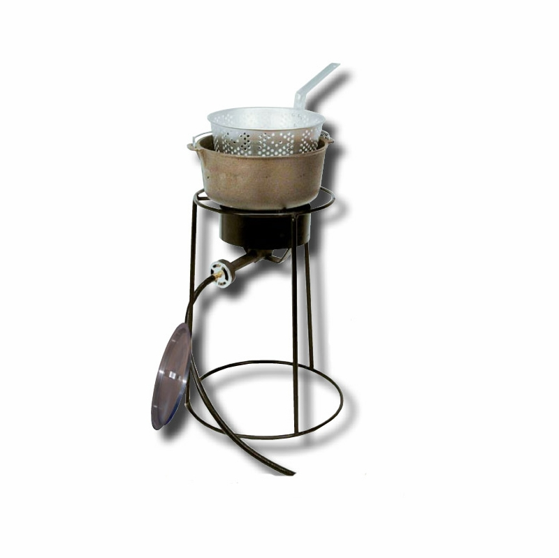 King kooker tall fish fryer iron for Iron fish for cooking