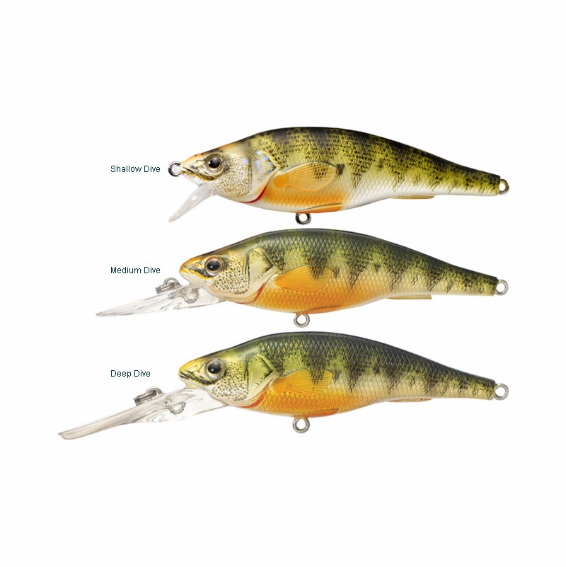 Livetarget lures yellow perch crankbait jerkbait for Perch fishing lures