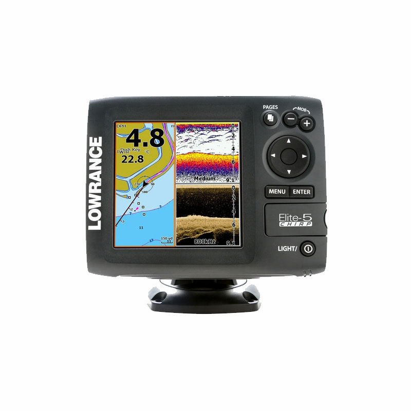 lowrance elite 5 base fishfinder chartplotter combos tackledirect. Black Bedroom Furniture Sets. Home Design Ideas