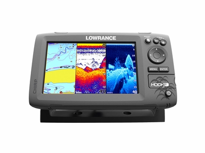 Lowrance hook 7 fishfinder chartplotter combos tackledirect for Lowrance hook 7 trolling motor mount