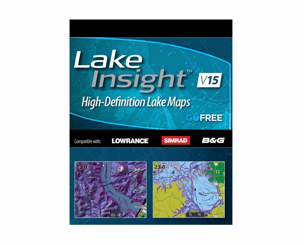 Lowrance Lake Insight High-Definition Lake Maps | TackleDirect on