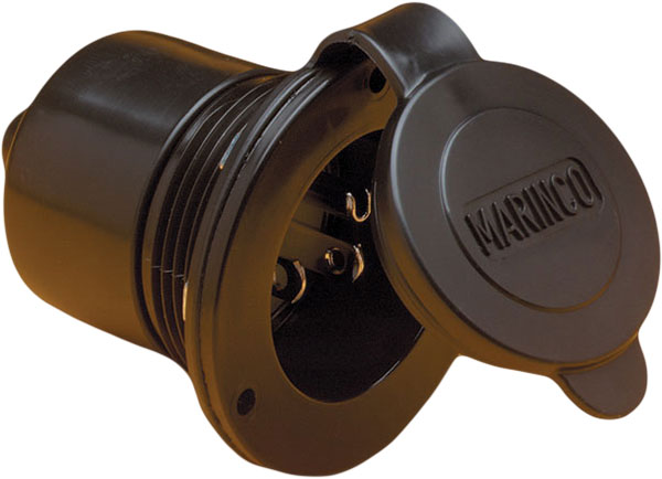 Marinco 150bbi 15 amp 125v on board charger inlet for 150 amp service entrance cable