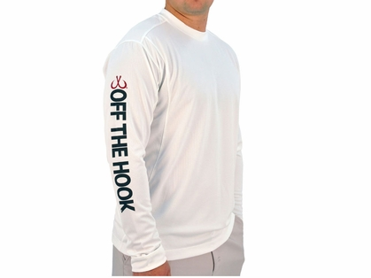 Montauk Tackle Crew Neck MTCdryprotect Shirt Lighthouse White