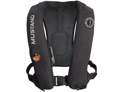 Mustang md5183 elite inflatable automatic pfd tackledirect for Best inflatable life vest for fishing