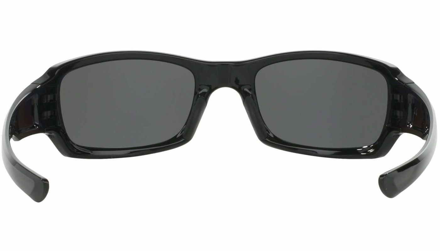 a7957355cb ... uk oakley oo9238 06 fives squared sunglasses polished black frame w black  iridium polarized lens 19280