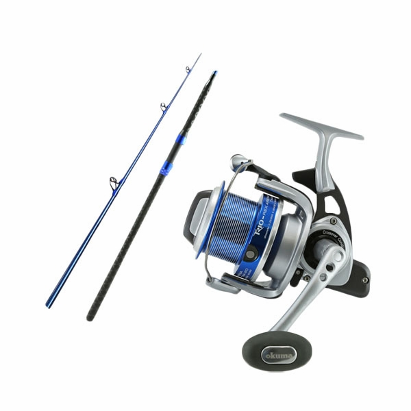 Okuma txa 60 trio rex cs s 1002mha cedros surf combo for Surf fishing rods and reel combos