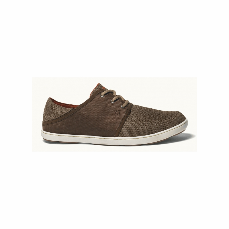 Olukai Nohea Lace Mesh Leather Shoes