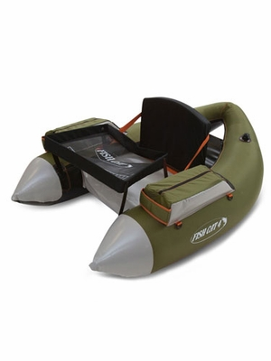 Outcast fish cat 4 deluxe inflatable float tube olive for Fish cat 4