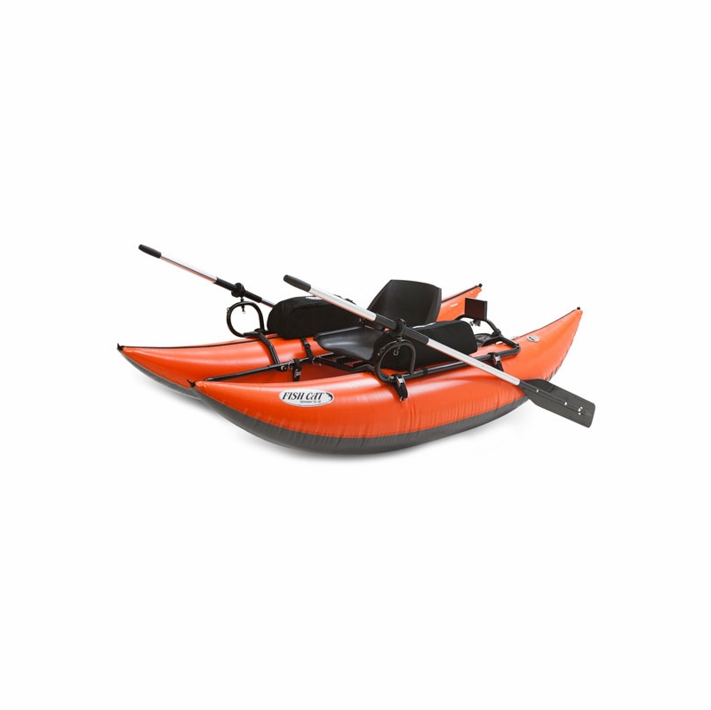 Outcast fish cat streamer inflatable pontoon boat for Fish cat pontoon