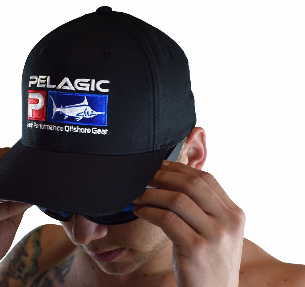 dbc04cd5d2a2b Pelagic Deluxe Logo Flexfit Hats