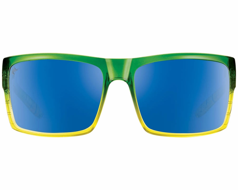 8c543c8b748 Pelagic Shark Bite Sunglasses - Green Dorado Blue Mirror