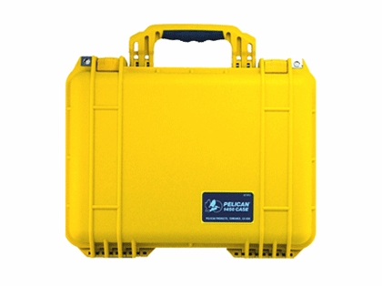 Pelican 1450 Case With Foam Yellow