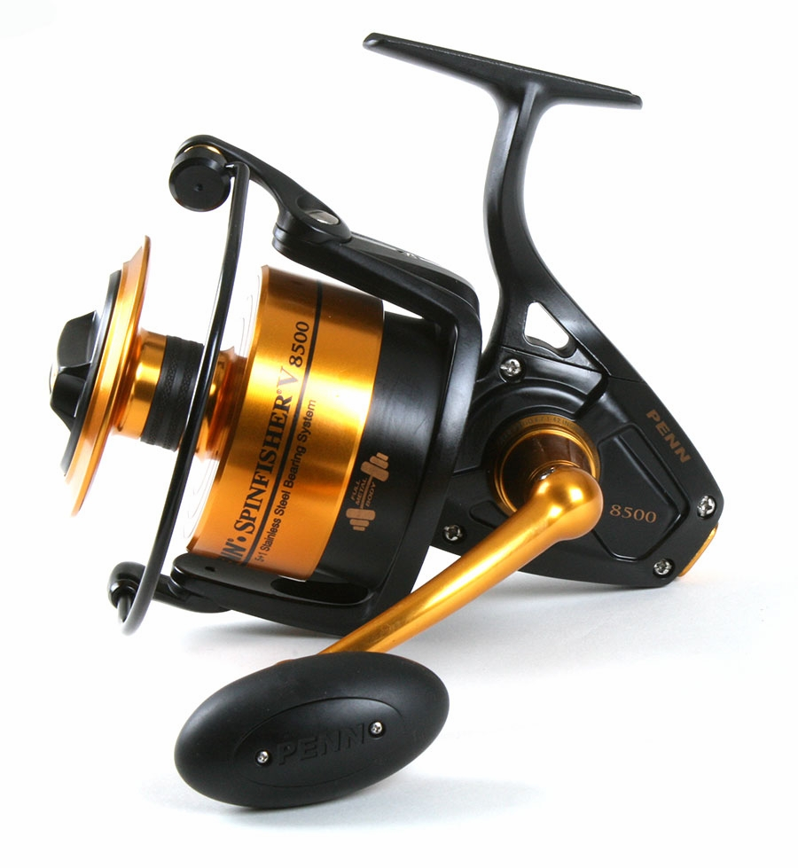 Penn ssv8500 spinfisher v reel penn prevail combo for Surf fishing reels