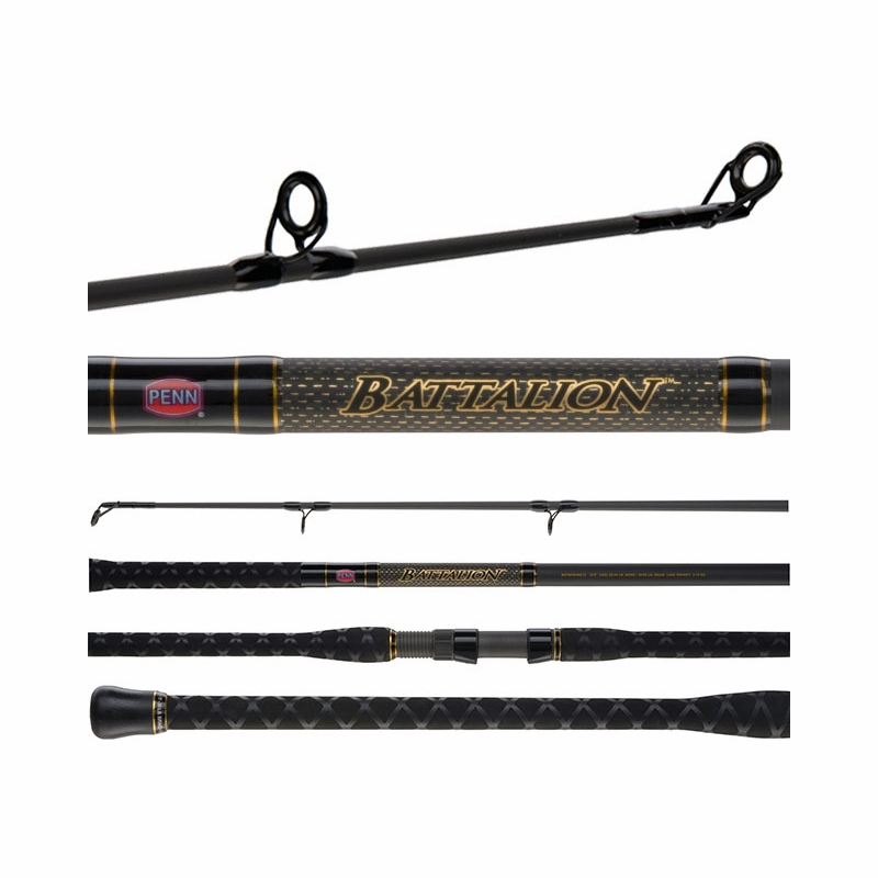 Penn batsf1530s11 11ft 2pc spinning surf rod for Best surf fishing rods