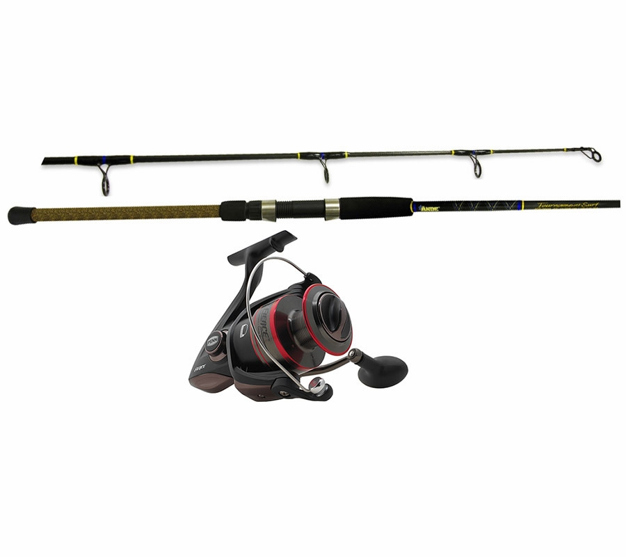 penn fierce spinning reel ande surf rod shark lure
