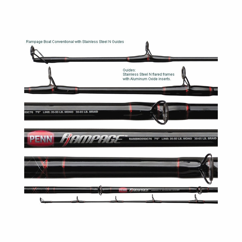 Penn Rampage Boat Rod | TackleDirect