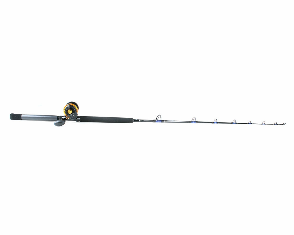 Penn squall lever drag reel td custom rod combo for Tuna fishing rod and reel combos