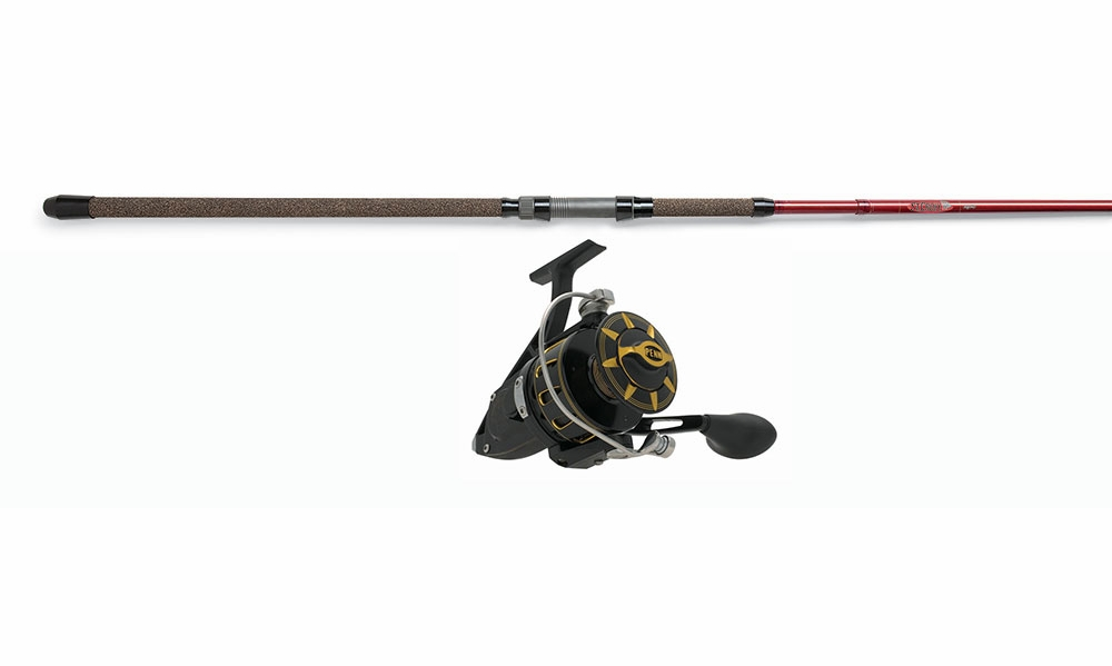 Penn torque reel black st croix avid spin rod combo for Best surf fishing rod and reel combo