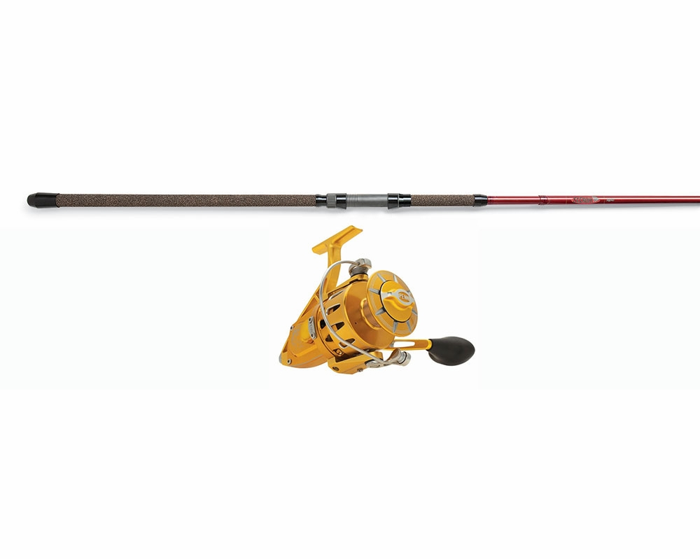 Penn torque reel gold st croix avid spin rod combo for Surf fishing rod and reel