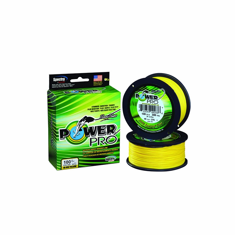 powerpro braided spectra fiber fishing line hi vis yellow