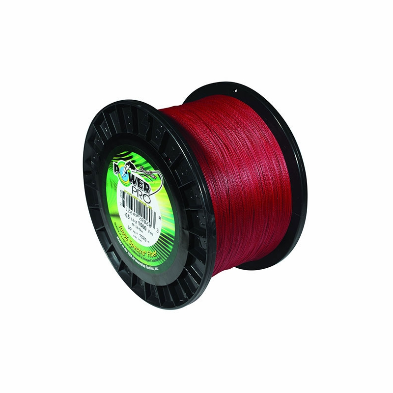 Powerpro braided spectra fiber vermilion red 3lb 100yd for Power pro fishing line