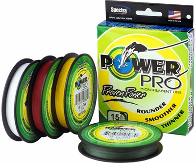 Powerpro braided spectra fiber fishing line white for Power pro fishing line