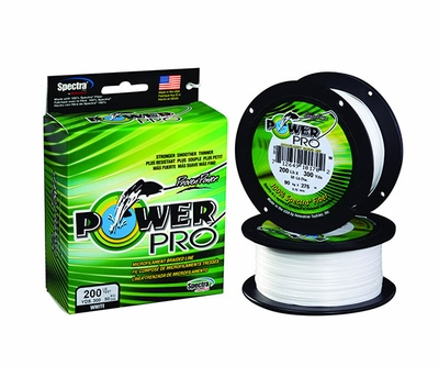 Powerpro fishing line braided spectra 100lb 1500yds white for Power pro fishing line