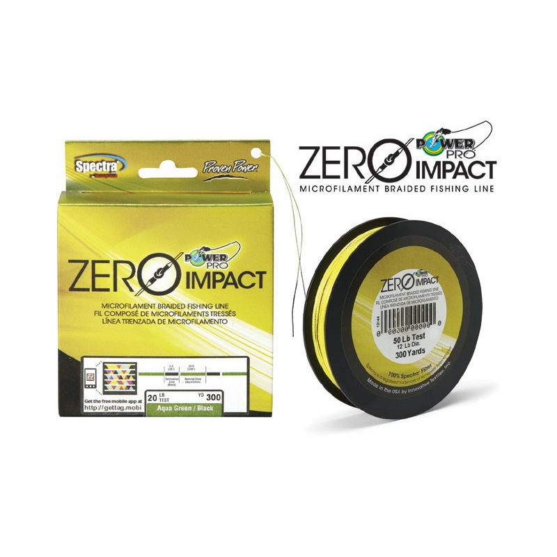 Powerpro zero impact braided fishing line 50lb 150yds aqua for 20 lb braided fishing line