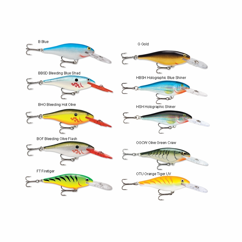 Rapala shad rap lures tackledirect for Shad fishing lures
