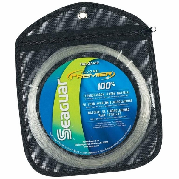 Seaguar 200fp25 fluoro premier big game fluorocarbon for Fluorocarbon fishing line