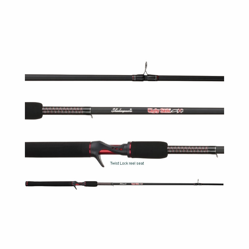shakespeare ugly stik gx2 casting rods tackledirect