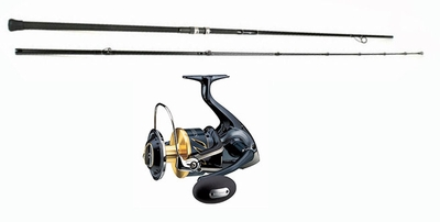 Shimano stella swb reel century sling shot combo for Surf fishing rod and reel