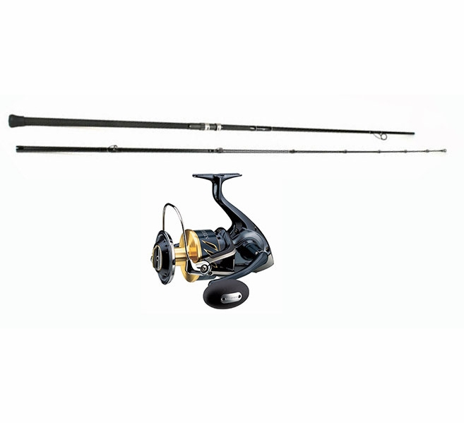 Shimano stella swb reel century sling shot combo for Best surf fishing rod and reel combo