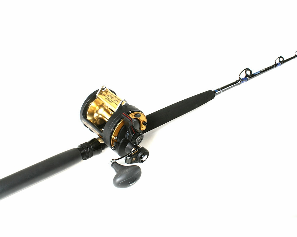 Shimano tld 25 triton reel ande rod troll combo for Tuna fishing rod and reel combos