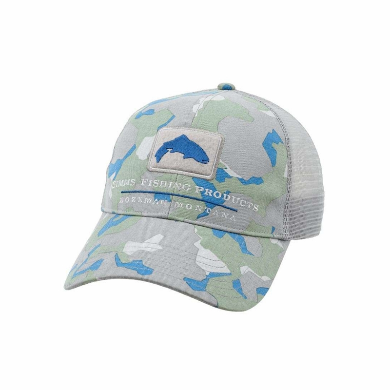 Simms hm tr08 trout trucker hats tackledirect for Simms fishing hat
