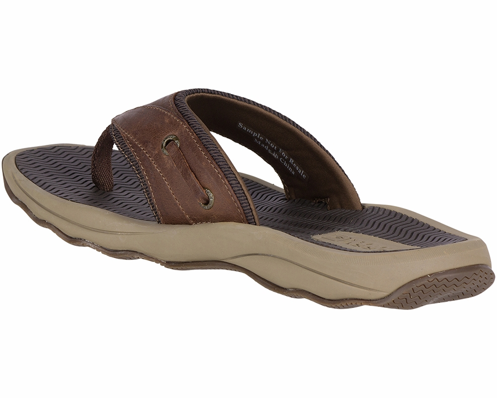 7208eb5294ac22 Sperry Outer Banks Thong Sandal - Brown 10M