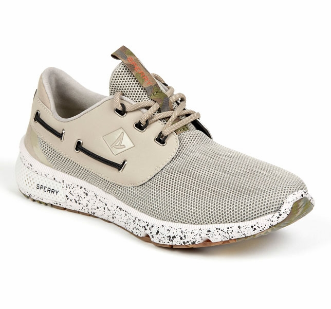 Sperry S Men S  Seas White Camo Boat Shoe