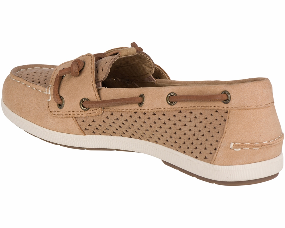 Coil Ivy Scale Emboss Boat Shoes