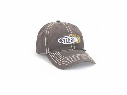 St croix cstcg grey logo cap tackledirect for St croix fishing apparel
