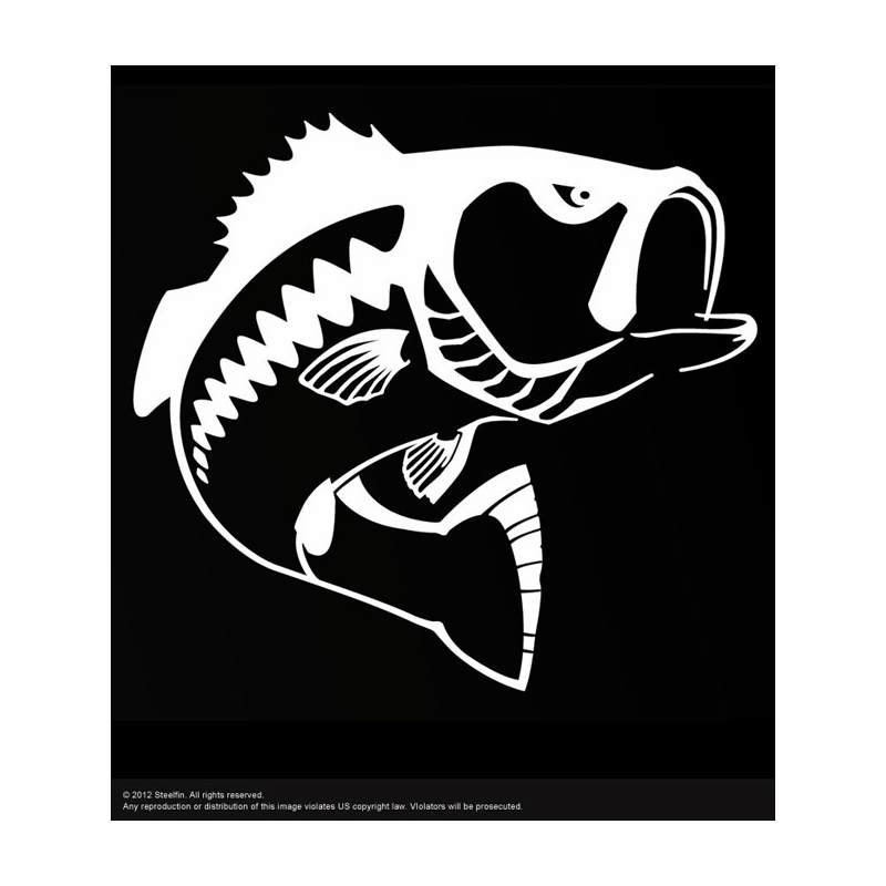 Steelfin largemouth bass decals tackledirect for Bass fishing decals