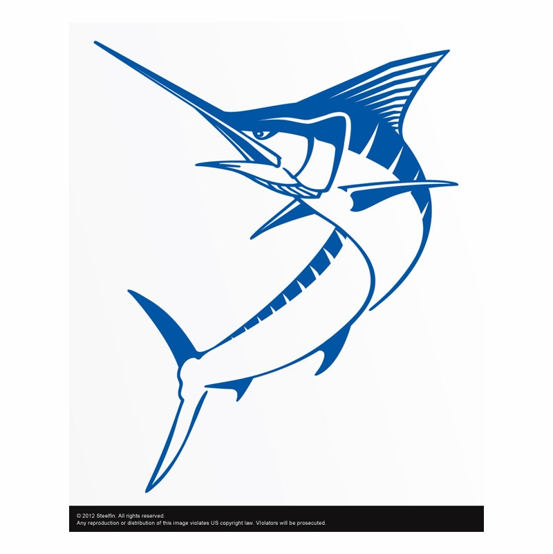 Steelfin marlin decals tackledirect for Saltwater fishing decals