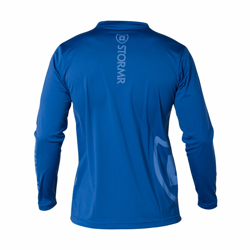 stormr rw115m 44 mens long sleeve uv shield shirt blue