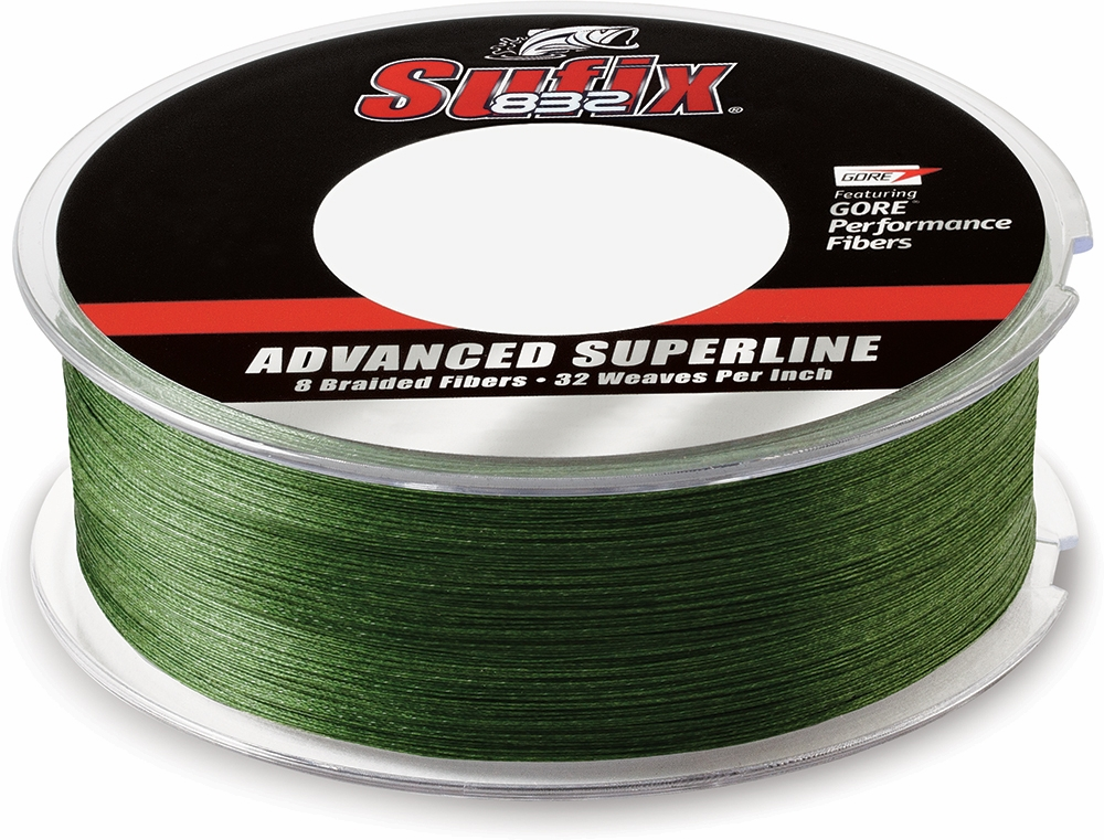Sufix 832 advanced superline 660 240g lo vis green 40lb 600yds for Braided fishing line for saltwater