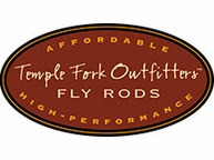 TFO Decal Sticker Black Fly Fishing Temple Fork Outfitters Trout Ross Reels