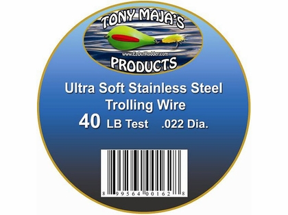 Tony Maja Stainless Steel Trolling Wire 40lb Test 6000ft 10lb Spool