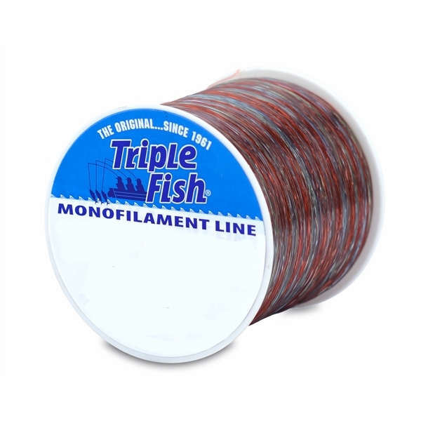 Triple fish monofilament line camo 1 4 lb spool 10lb for 30 lb fishing line